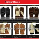 riding glove Premium Leather Full Finger Riding Glove