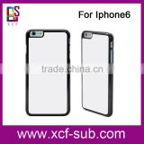 HOT!!!High Quality Rubber For iphone 5 5c 6 Silicone Sublimation 2D Blank Black Phone Cases Cover