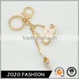Fashion high heel shoe keychain, crystal hanbag keychain/