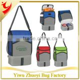New Connections Dual Compartment cooler bag With front zipper pocket ZY-136