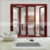 Modern house plans aluminum frame glass folding door/double tempered glass bifold door on alibaba china