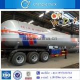 High quality 3 axles LPG gas tank semi-trailer truck for sale in singapore, south america