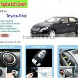 Manufacturer Keyless Entry System12v with Car Alarm for Toyota Camry 2012