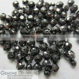 NATURAL LOOSE BLACK FACETED DIAMOND BEADS FOR NECKLACE AND JEWELERY
