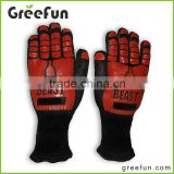 Heat Resistant Cooking Grip Gloves , Custom Color Barbecue Mitt , Design By you Triple Layered Protection BBQ Grilling Gloves
