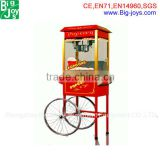 Newly design popcorn machine with trolley,vending popcorn machine,commercial kettle popcorn machine