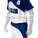 Navy Blue and White Color Volley Ball Men Uniforms