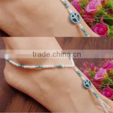 fashionable design sexy slave anklet chain, anklet with toe ring, foot anklet