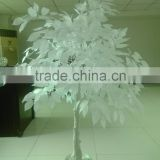 High quality plastic fake ornament tree cheap price middle/Colorful artificial white maple tree