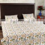 New Designer 100% Cotton Bed Sheet Indian Hand Block Printed Fabric For Home Textile Bed Sheet Set