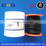 High quality with CE and ISO Composed of fibroin black braided silk suture for surgery use