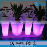 PE battery operated outdoor/indoor led planter pot,decorating led flower vase light