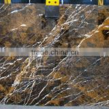 Black Gold Marble Slabs Flooring for Bathroom - Qatar