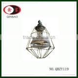 Vintage Industrial lamp guard cage metal lamp shade work light