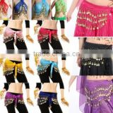 Supply Wholesale India girls Belly dance waist Chain 128pcs coins