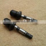 cropper axis,field mower axle,grass cutter shaft,lawn-mower axis machined,hay mower shaft machining