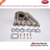 Mertop 3mm Thick schedule 40 T4 Supra 2JZGTE 2JZ-GTE 2JZ GTE T4 Stainless Steel Equal Length T4 Turbo Manifold