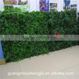 SJLJ013360 direct selling artificial leaves wall / fake plastic grass wall for wall decoration