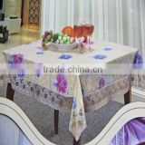 Square tablecloth Tablecloth stocklot PVC non-woven fabric flower design Square tablecloth with 3 inch lace