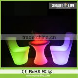 outdoor armless plastic stacking chair/colored lucite chairs color change for nightclub led furniture led cube furniture sale