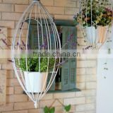 Hanging flower pot plant metal display storage holder