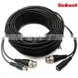 10m/20m30m/50m/100m BNC plug Male + DC jack Male to BNC Male + DC Female audio jack cable