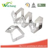 WCTS03M 4pcs Leaf Stainless Steel Table Cloth Clips Table Cover Holder Party Picnic Clamps