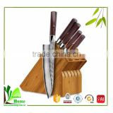 Special style pop bamboo knife block heart