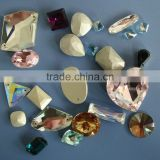 clothing or garment accessory crystal and galss bead