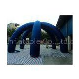 Customized blue Inflatable Advertising Party Tent giant , outdoor event tent