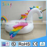 EN71 Newest Custom 6P Eco-friendly PVC Pool Tubes Inflatable Colorful Pegasus Floats Toys