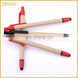 Promotional Logo Custom Recycled Paper Pen with Cheap Price