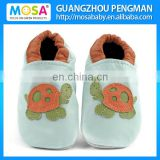 Cow Leather Soft Sole Baby Boy Blue Tortoise Pattern Shoes ,Genuine Leather Flat Loafers