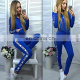 royal blue jogging tracksuits 2pcs hoodies pants sport suit design