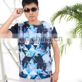 OEM Pattern Hot Transfer Print men t shirt cheap mans t shirt