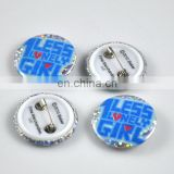 Factory price-good quanlity full color printing tinplate button badge pin for decoration