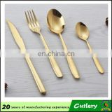 Top quality stainless steel cutlery gold plated flatware wholesale