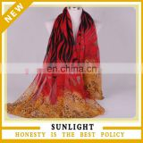 cotton voile scarves with different imprinting spring scarves 180*90cm