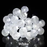 Crystal Ball Solar String Light 6M 30LEDs Waterproof Outdoor Garden Light Party Wedding Holiday Christmas Light 4.8M