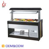 Restaurant Buffet Equipment Square Lift-up Salad bar refrigeration