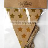 custom printing paper party flag banner maker for birthday wedding decoration hang up
