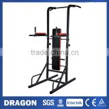 Knee Raise Multi Power Tower with Exercise Bench Chin Up Push Pull Dip Fitness Station Exercise Home Gym PT2015