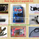 high-level compound bow upgrade kit w/sight stabilizer arrow rest quiver wrist sling peep sight release case archery hunting