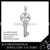 925 silver rhodium plated jewelry key pendant