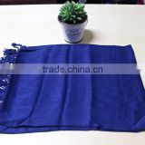 Fashionable satin printed pure color heated scarf brand pashmina scarf acrylic reverse knit scarf