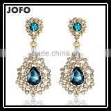 Newest Fashion Lady Green Red Color Crystal Bib Statement Dangle Earrings