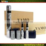 The new Vamo V5 starter kit variable voltage / watt mod is made of vamo v2 body+vamo v3 pcb + removeable top ring