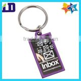 light metallic colours keyring with epoxy dome