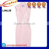latest design pink women bandage dress celebrity party fabric dress