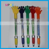 Five fingers Palm Hand Shape Promotional Ballpoint Pen Plastic Touch Pen with Banner
